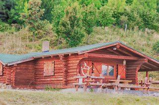 Cabana Vanatoreasca din lemn rotund