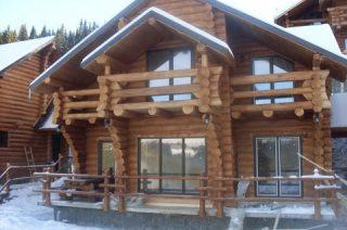 pensiune din lemn rotund din ranca