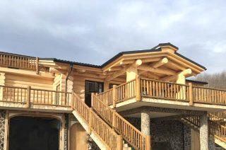 case din lemn rotund din targu mures